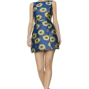 Alice + Olivia Epstein Pouf Dress with sunflowers